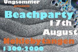 Beachparty på Nøklebytangen